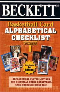Beckett Basketball Card Alphabetical Checklist book #1 (1997)