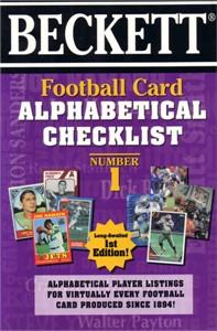 Beckett Football Card Alphabetical Checklist book #1 (1997)