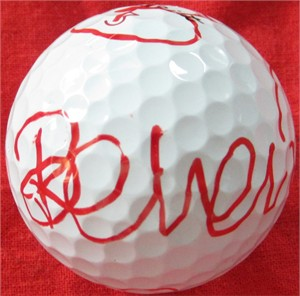 Belen Mozo autographed 2013 LPGA Kia Classic tournament used Titleist golf ball