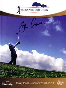 Ben Crane autographed 2010 San Diego Open golf program