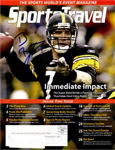 Ben Roethlisberger autographed Pittsburgh Steelers 2005 SportsTravel magazine
