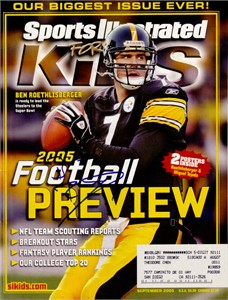 Ben Roethlisberger autographed Pittsburgh Steelers 2005 Sports Illustrated for Kids magazine