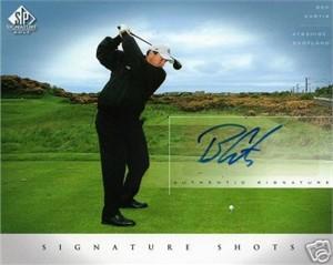 Ben Curtis certified autograph 2004 SP Signature Golf 8x10 photo card