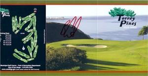 Ben Curtis autographed Torrey Pines golf scorecard