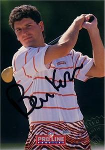 Bernie Kosar certified autograph Cleveland Browns 1992 Pro Line card
