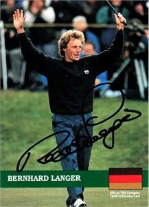 Bernhard Langer autographed 1992 Pro Set golf card