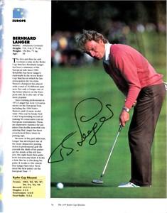 Bernhard Langer autographed 2010 U.S. Senior Open Golf World magazine