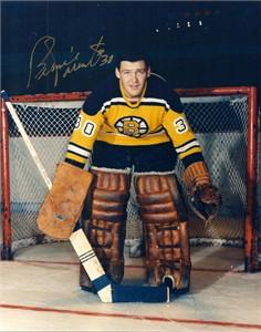 Bernie Parent autographed Boston Bruins 8x10 photo