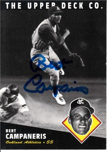 Bert Campaneris autographed Oakland A's 1994 Upper Deck All-Time Heroes card (MLB authenticated)
