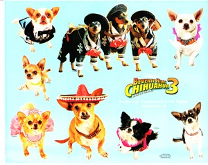 Beverly Hills Chihuahua 3 movie promo decal or sticker set