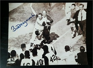 Bill Mazeroski autographed Pittsburgh Pirates 1960 World Series Home Run 8x10 celebration photo