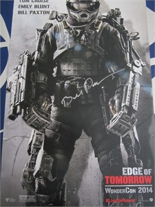 Bill Paxton autographed Edge of Tomorrow 2014 Wondercon exclusive movie poster