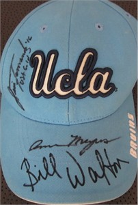 Bill Walton Ann Meyers Lisa Fernandez autographed UCLA Bruins cap or hat