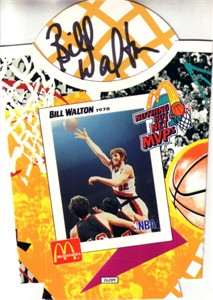 Bill Walton autographed Portland Trail Blazers 1994 McDonald's Nothing But Net MVPs french fry container