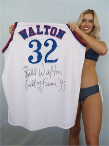 Bill Walton autographed 1984-85 Los Angeles Clippers authentic Mitchell & Ness throwback jersey inscribed Hall of Fame '93