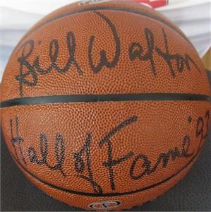 Bill Walton autographed NBA basketball inscribed Hall of Fame '93