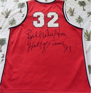 Bill Walton autographed Portland Trail Blazers Adidas replica throwback jersey