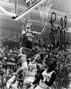 Bill Walton UCLA Bruins 8x10 action photo (preprinted autograph)