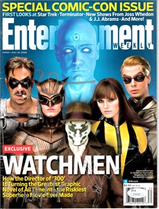 Billy Crudup Patrick Wilson Zack Snyder autographed Watchmen 2008 Entertainment Weekly magazine