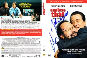 Billy Crystal & Robert De Niro autographed Analyze That movie DVD cover