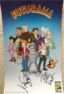 Billy West autographed Futurama 2012 Comic-Con exclusive poster