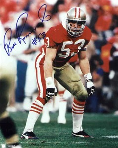 Bill Romanowski autographed San Francisco 49ers 8x10 photo
