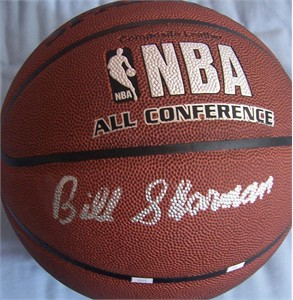 Bill Sharman autographed Spalding NBA basketball