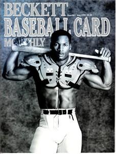 Bo Jackson 1990 Beckett magazine with Nike baseball & football cover