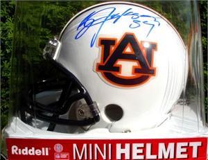Bo Jackson autographed Auburn Tigers mini helmet