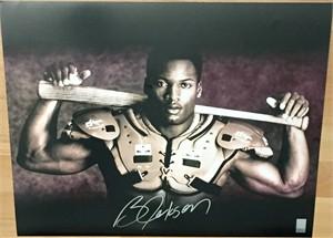 Bo Jackson autographed Bo Knows 16x20 poster size Nike baseball & football photo (GTSM)