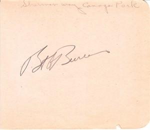 Bob Burns autographed autograph album or book page (JSA)