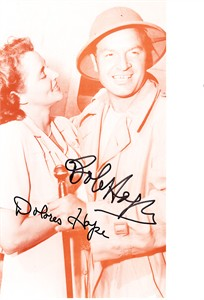 Bob Hope & Dolores Hope autographed sepia photo