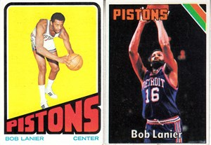Bob Lanier 1972-73 1974-75 1975-76 Topps basketball 3 card lot