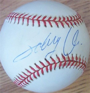 Bobby Abreu autographed National League baseball