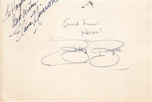 Bobby Burgess & Elaine Niverson autographs or cut signatures