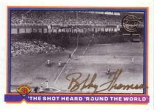 Bobby Thomson autographed Shot Heard Round The World 1991 Bowman card