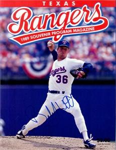 Bobby Witt autographed Texas Rangers 1989 Nolan Ryan 5000th Strikeout program