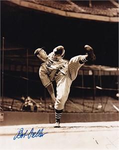 Bob Feller autographed Cleveland Indians 8x10 photo