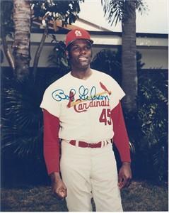Bob Gibson autographed St. Louis Cardinals 8x10 photo
