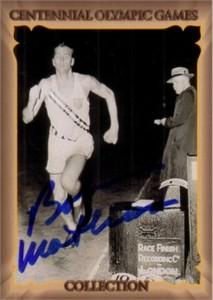 Bob Mathias (decathlon) autographed 1996 Centennial Olympics card