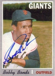 Bobby Bonds autographed San Francisco Giants 1970 Topps card