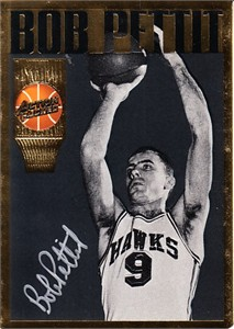 Bob Pettit certified autograph 1994 Action Packed Hall of Fame card