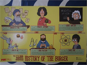 Bob's Burgers 2015 San Diego Comic-Con mini 11x17 inch FOX promo poster MINT