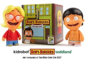 Bob's Burgers Kidrobot 2017 Comic-Con Exclusive Blind Box Blonde Linda or Underpants Gene mini vinyl figure