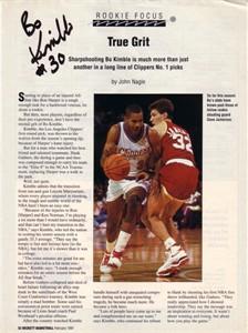 Bo Kimble autographed Beckett Basketball magazine page