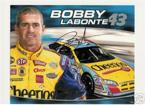 Bobby Labonte autographed Cheerios NASCAR 8x10 photo card