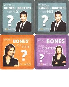 Bones 2013 Comic-Con promo lot of 4 coasters MINT (David Boreanaz & Emily Deschanel)