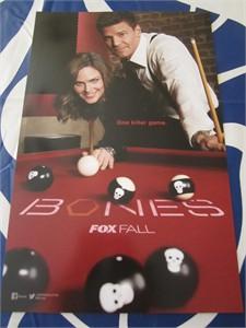 Bones 2014 San Diego Comic-Con 11x17 inch mini promo poster (David Boreanaz & Emily Deschanel)