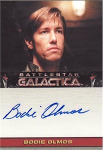 Bodie Olmos Battlestar Galactica certified autograph card