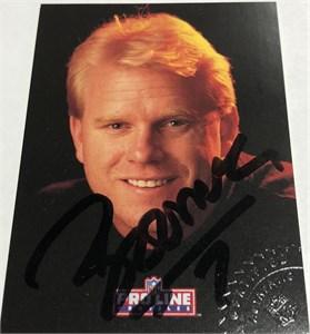 Boomer Esiason certified autograph Cincinnati Bengals 1991 Pro Line card